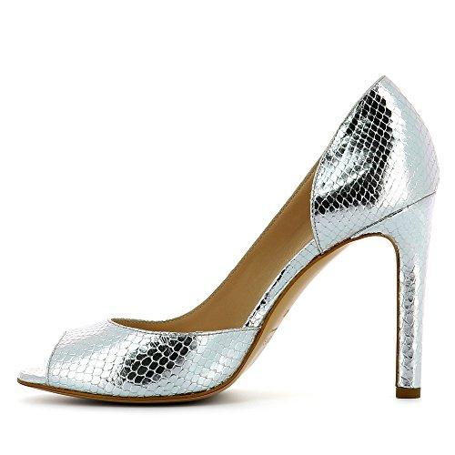 Evita Shoes Belina - Zapatos de vestir de Piel para mujer plata
