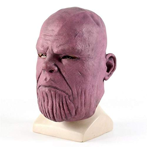 Boys Costume Accessories - Fancy Superhero Movie The Avengers 3 Thanos Mask Cosplay Costumes Villain Latex Hoods Halloween - Boys Accessories Costume]()