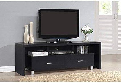 Kit Closet Mesa TV kubox, Madera atamborada, Negro, 39 x 150 x 51 ...