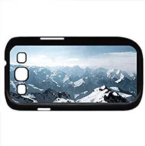 alp dhuez france (Mountains Series) Watercolor style - Case Cover For Samsung Galaxy S3 i9300 (Black)