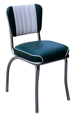 Remarkable Richardson Seating Two Tone Channel Back Retro Diner Chair With 2 Waterfall Seat Green White 18 Pabps2019 Chair Design Images Pabps2019Com