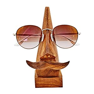 Thoughtful Birthday Day Gift Ideas Handcrafted Movember Rosewood Reading Glasses Stand Spectacle Stand or Eye Glass Holder Wooden Tabeltop Display Stand 6 Inches Birthday Housewarming Gift Ideas