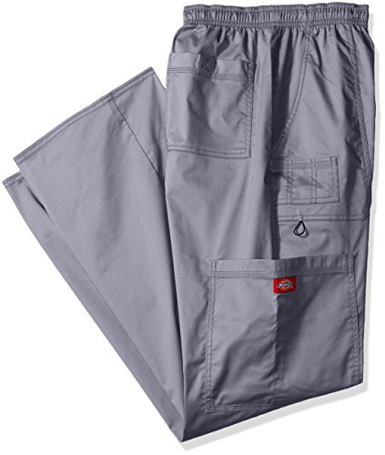 Dickies Men's Big GenFlex Utility Drawstring Cargo Scrubs Pant, Light Pewter, X-Large Tall (Utility Scrub Pant Cargo)