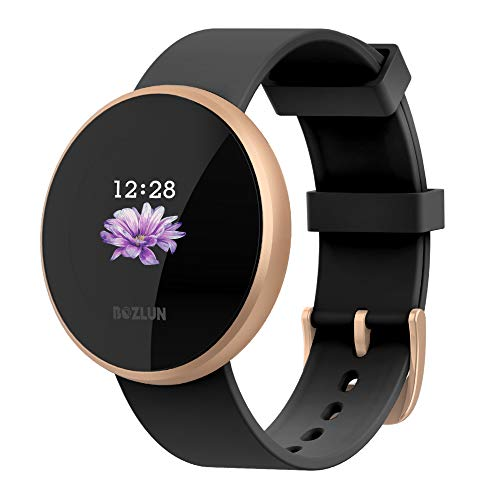 BOZLUN Smart Watch for Android Phones and iPhones, Waterproof Smartwatch Activity Fitness Tracker with Heart Rate Monitor Sleep Tracker Step Counter for Women and Men (Gold) (Best App To Keep Track Of Menstrual Cycle)