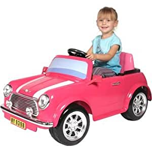 National Products 6V Battery Operated Mini Cooper Ride-on Pink