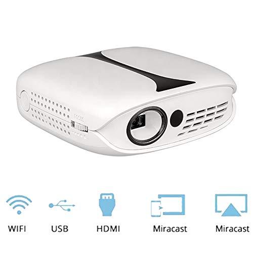 QLPP 3D Mini-Video-Projektor eingebaute Batterie Kompatible Phone und 1080P Movie Supported WiFi Airplay 120 ' ' Display…