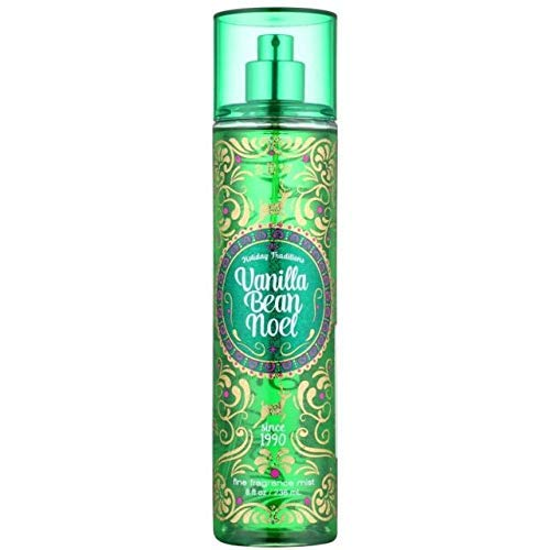 (Bath and Body Works Holiday Traditions Vanilla Bean Noel Fine Fragrance Mist, 8.0 Fl Oz)
