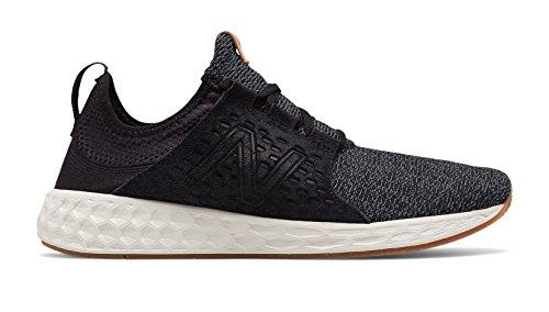 New Balance Men's Fresh-Foam Cruz Running Shoe, Black/Sea Salt, 11 D(M) US -