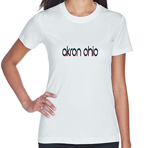 Makoroni - Akron Ohio Women's Short Sleeve T Shirt White]()