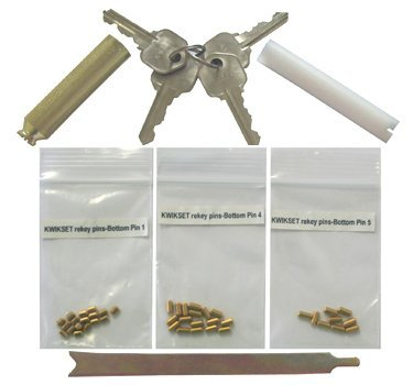 Kwikset Keyway Rekey Kit Rekeying Set 4 Keys 8 Locks 5 Pins locksmith on keyless entry lock, security lock, open lock, door lock, safe lock, kwikset lock, schlage lock, 95 explorer rear hatch lock, deadbolt lock, snap gun lock, home lock,
