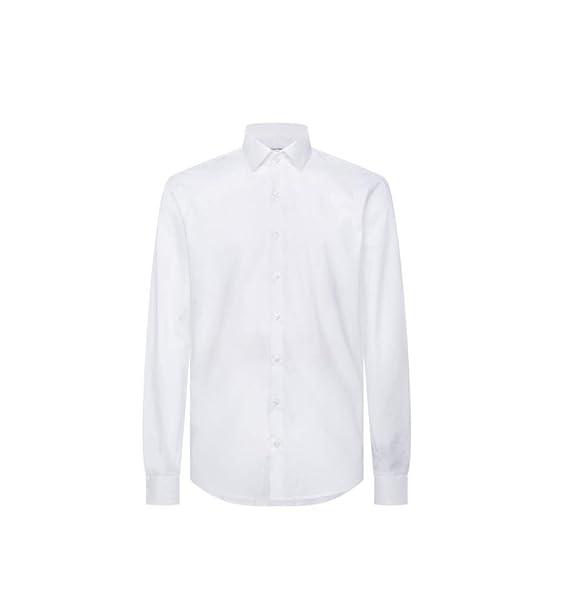Camisa Blanca Modelo clásico Bianco 38: Amazon.es: Ropa y accesorios