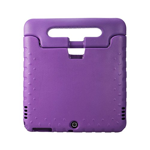 eTopxizu Samsung Galaxy Tab 4 10.1 Kids Case - Light Weight Shock Proof Convertible Handle Stand Kiddie Children Friendly Case for Samsung Galaxy Tab 4 10.1-Inch SM-T530 SM-T531 SM-T535 Tablet, Purple Color