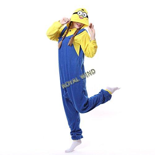 Cute Minion Unisex Adult Pajamas Kigurumi Animal Onesie Cosplay Costumes Animal Outfit S