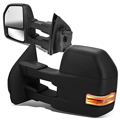DNA Motoring TWM-058-T888-BK-CL Powered w/LED Turn Signal+Puddle Light Side Towing Mirror Replacement