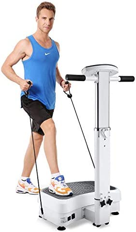 MaxKare 【Limited Promotion】 Vibration Plate Exercise Machine Vibration Platform Machine with Adjustable Handle 2 Motor & Loop Bands for Weight Loss,Toning &Fitness Indoor/Outdoor Exercise Workout 6