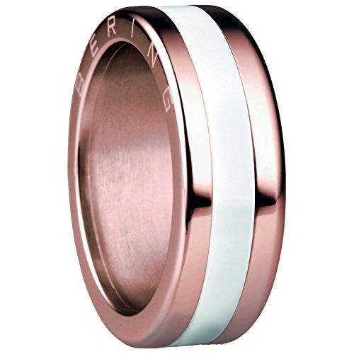 Bering Combinaison Bague en acier inoxydable plaqué or rose/Céramique RG 57520–30–83+ 554–50–81