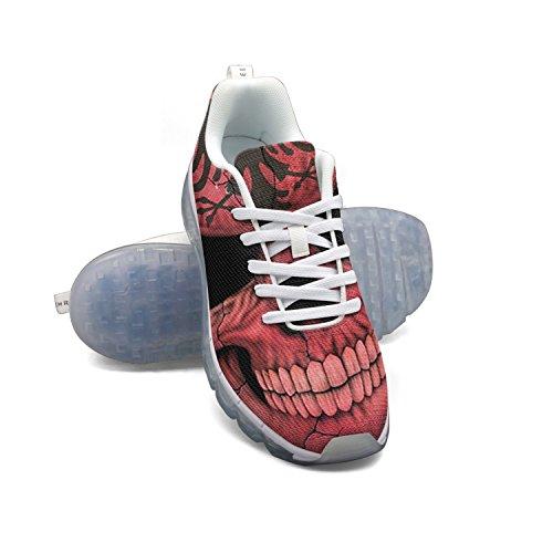 FAAERD Albanian Flag Skull Men's Fashion Lightweight Mesh Air Cushion Sneakers Running Shoes cheap best wholesale cheap best prices shopping online free shipping high quality cheap price ZBGq5rgvJ