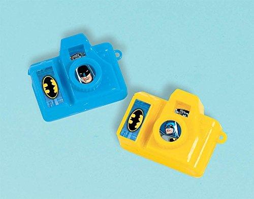 Mini Toy Batman (Awesome Batman  Birthday Party Clicking Mini Camera Favour, Blue/Yellow , 1 3/4