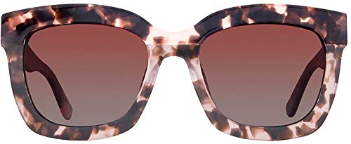 DIFF Eyewear - Carson - Himalayan Tortoise + Rose Gradient - Womens Designer Square Sunglasses - 100% UVA/UVB ()