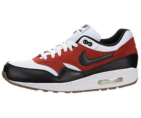 Nike Men's Air Max 1 Essential Shoes, White/Black/Gamma O...