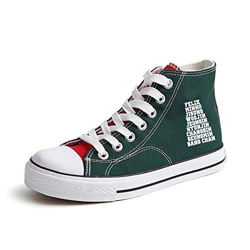 Green38 Amant Stray Tissu Kids Loisirs Top High Sport De Couleur Chaussures Sneakers Unie 1q6a7q