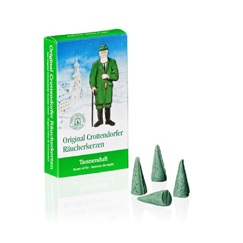 Crottendorfer incense candle, fir tree fragrance, 24 pieces (Christmas Cones Incense)