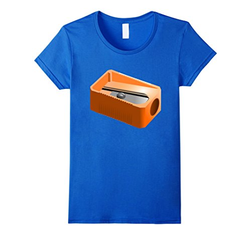 Group Office Costume Ideas (Womens Pencil Sharpener Funny Office School Supplies Costume Shirt Medium Royal Blue)