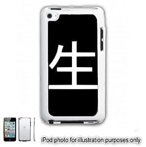 Life Kanji Tattoo Symbol iPOD 4 Touch Hard Case Cover Shell White 4th Generation White