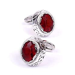 Men's Stylish High Gloss Crystal Cufflinks