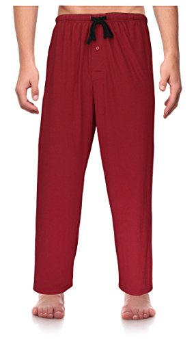RK Classical Sleepwear Men's Knit Pajama Pants, Size XX-Large Red (K0163) XX-Large (Lounge Logo Pants Flannel)