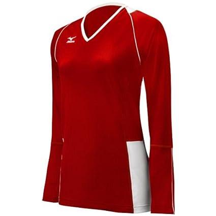 XX-Large Mizuno Womens Classic Kailua Long Sleeve Jersey Red//White 440411.1M1M.08.XXL