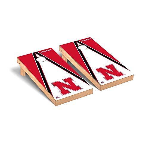 Victory Tailgate Regulation Collegiate NCAA Triangle Series Cornhole Board Set - 2 Boards, 8 Bags - Nebraska Cornhuskers