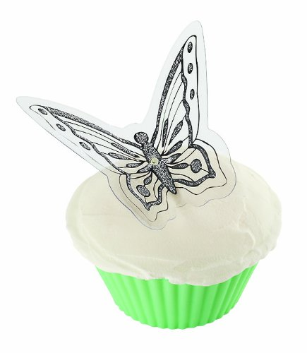 Wilton 120-1172 Dimensional Elegant Butterfly Cake Side Picks, 12 Count