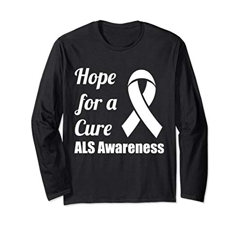 T-shirts Als Cure (Hope for a Cure ALS Awareness Ribbon Long Sleeve T-Shirt)