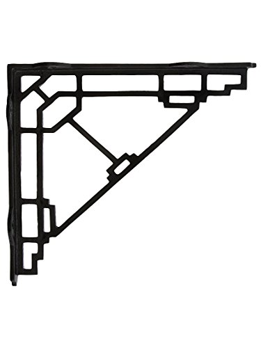 House of Antique Hardware R-010SE-00967550 Mission Style Shelf Bracket in Matte Black - 10