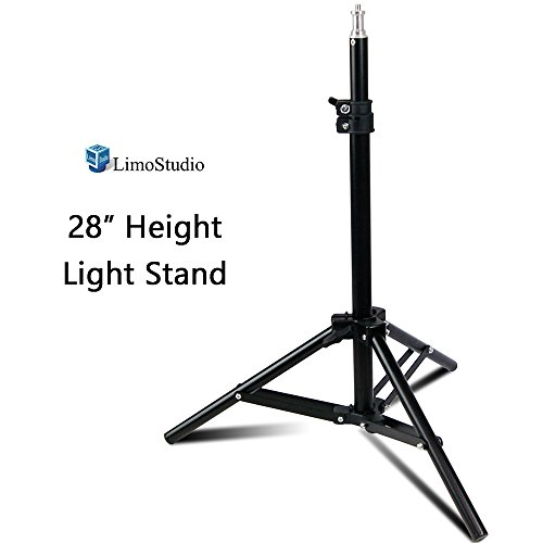 LimoStudio 28 Max Height Mini Aluminum Photography Back Light Stands for Table Top Photo Studio Lights, AGG2341