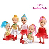Halffle Princess Doll Moveable Joint Girls Toy Kids Cartoon Doll Toy Birthday Gifts Random Color (1 Pcs)