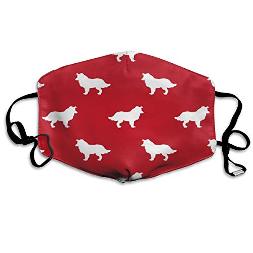 Sil Border - Dust Face Mask for Dust Mouth Mask,Border Collie Pet Quilt A Sil Anti-Dust Mask Adjustable Earloop Face Mask