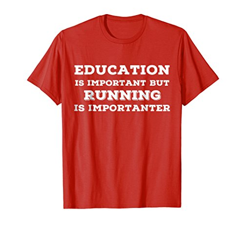 Track Sayings T-shirt (Mens Joke Running T Shirts. Gifts for Runners Learn to Run. Large Red)