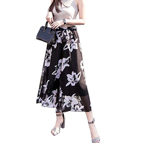 Pantalones Pierna Estilo 03 Diseño Mujer Ancha Holgado Para Ajuste Con De Impresión qpwWpfBaIH