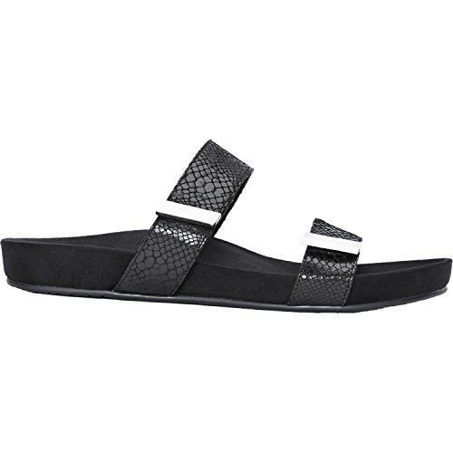 Vionic Womens 341 Jura Leather Sandals Black