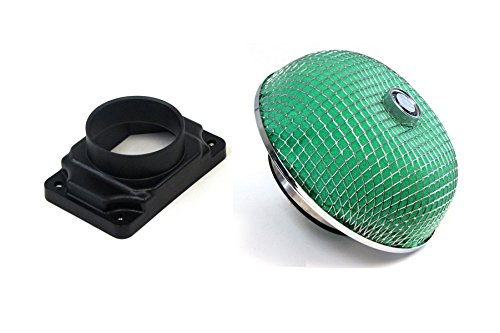 (95-99 Mitsubishi Eclipse Turbo GSX Green Foam Filter + Mass Air Flow Sensor)