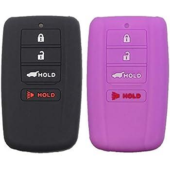 Coolbestda for Acura RLX RDX MDX ILX TLX KR5V1X Smart Key Fob Case Cover Protector Remote Skin Jacket Holder 2Pcs