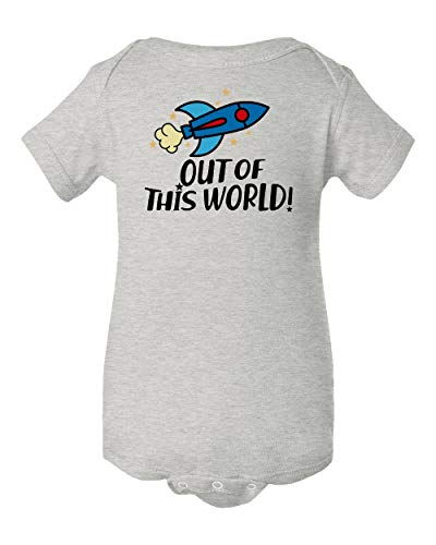 - Out of This World Infant Baby Short Sleeve Bodysuit (Heather, 6M)