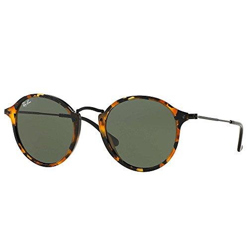 Ray-Ban - ROUND FLECK RB 2447, Round, acetate, men, SPOTTED BLACK HAVANA/GREY GREEN(1157), - Ray Ban Fleck