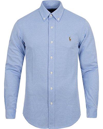 Ralph Lauren Men's Slim Fit Soft Knit Oxford Button Down Shirt Harbor Blue XXLarge