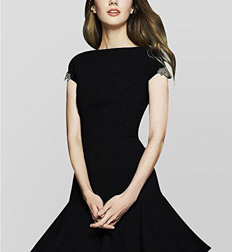 Robe Femmes de Robe Robe et Graphique Couleur L Robe Une la MiGMV 2018 Noire Mode Robe Une Robe europenne amricaine Longueur Longue d'paule d't Petite de Nouvelles qzxRtT
