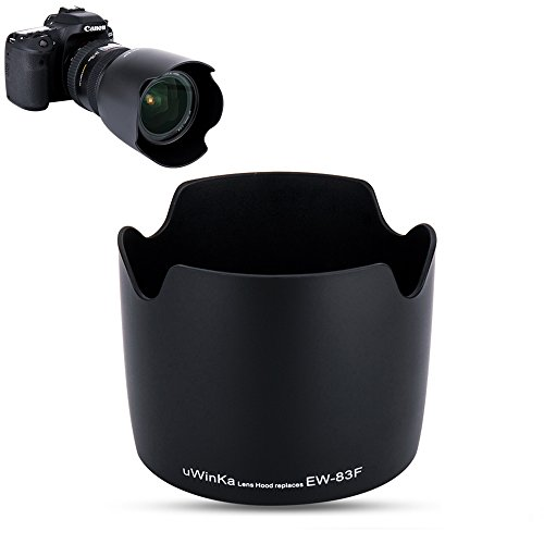 Uwinka Camera Lens Hood Shade for Canon EF 24-70mm f/2.8L USM Lens Replaces Canon EW-83F Lens Hood no Vignetting Reverse Attaching -Black