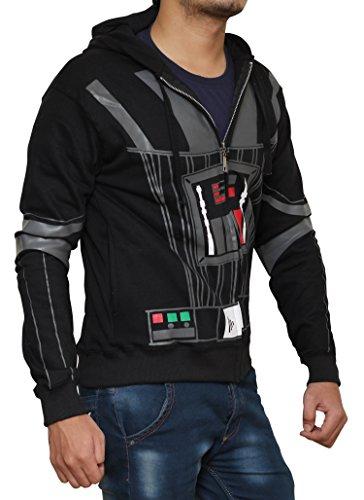 Miracle(Tm) Star Wars Hoodie - Darth Vader Hoodie Costume Zip Up Hoodie (M, Darth Vader (Black))