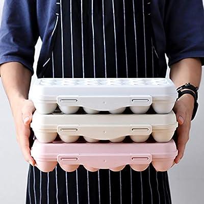 Huevera de plástico para refrigerador con tapa, organizador de ...